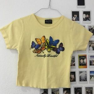 Y2K butterfly tee